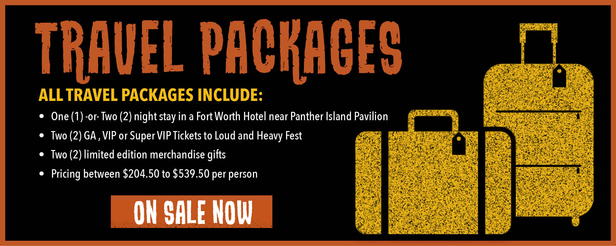 Travel packages on sale June 15