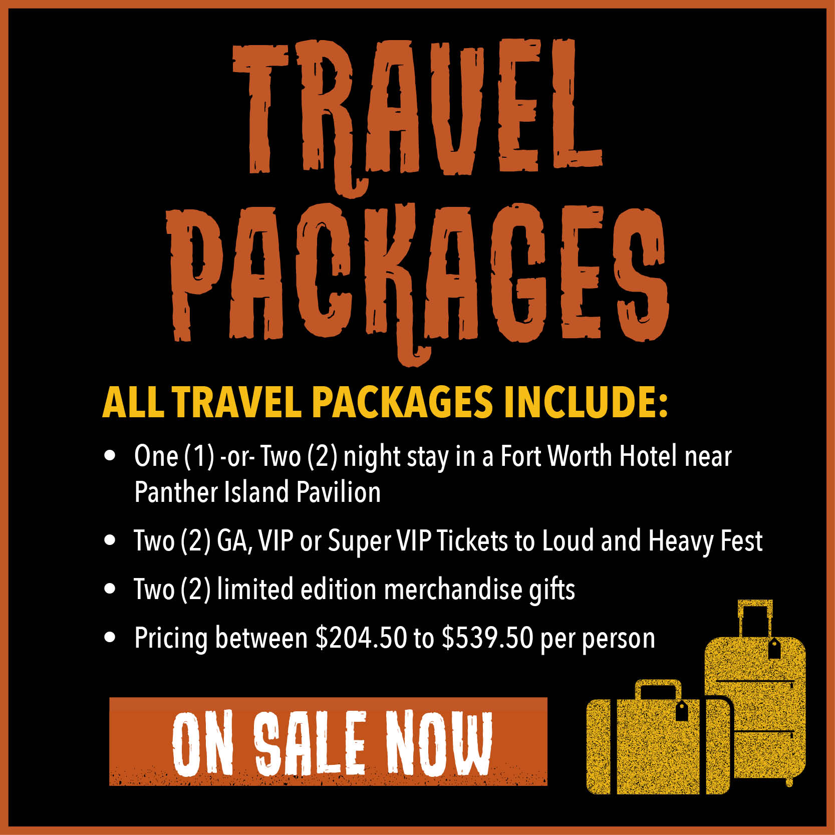 Travel packages on-sale June 15th